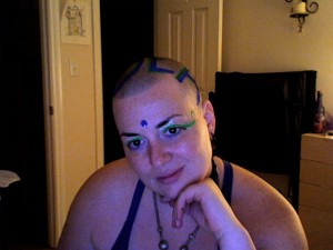 GlitterGirl Bald: Idea