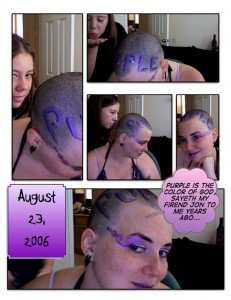 GlitterGirl Bald: Purple