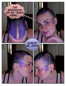 GlitterGirl's Shaved Head